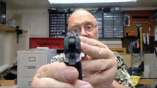 A man proceeds to break every single gun safety rule during a video.
