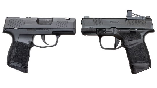 The author tested the SIG Sauer P365 SAS vs the Springfield Armory Hellcat.