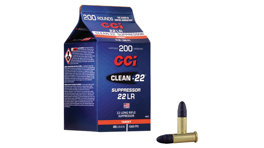 CCI Clean-22 Suppressor Ammo runs cleaner and improves accuracy through suppressors.