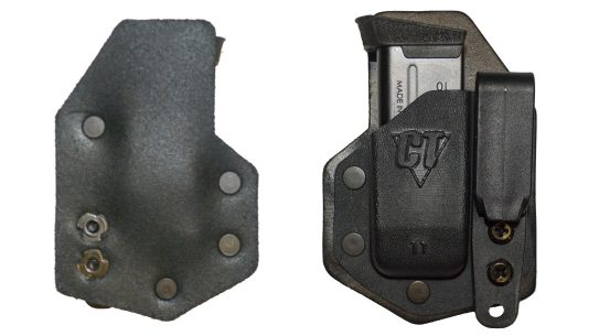 The CompTac eV2 Magazine Pouch provides deep concealment for appendix carry.