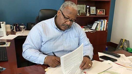 West Palm Beach Mayor Keith James signed a declaration banning guns for 72 hours.