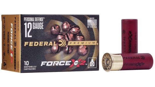 Federal's new Force X2 buckshot splits upon impact.