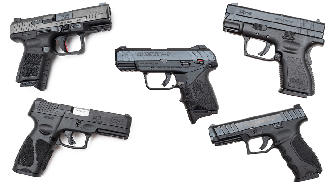 Pistols Under $500, Best Handguns Under $500, 9mm pistols
