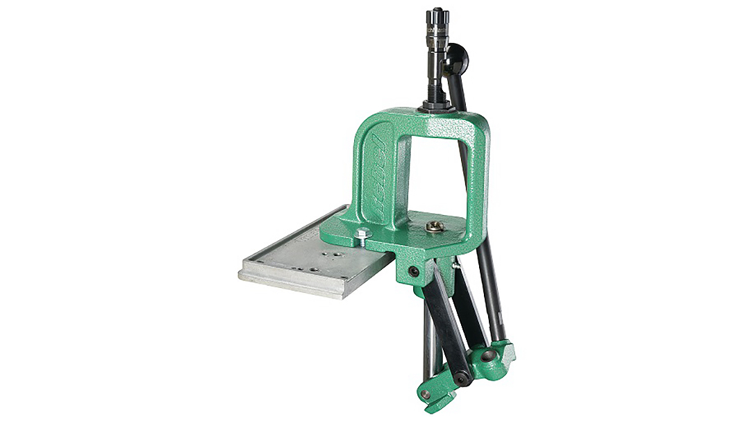 The RCBS Rebel Single Stage Press features a solid cast iron frame and upgraded components.