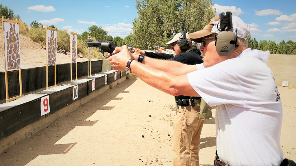Getting on target quickly required some re-learning during recent revolver training.