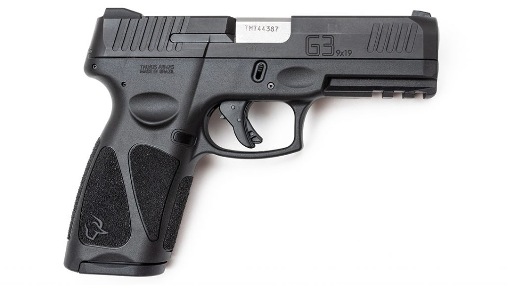Best Handguns Under $500, The Taurus G3 offers front and rear serrations, a beveled slide and Picatinny rail.