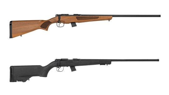 The magazine-fed, bolt-action Escort 22LR includes a 5- and 10-round magazine.
