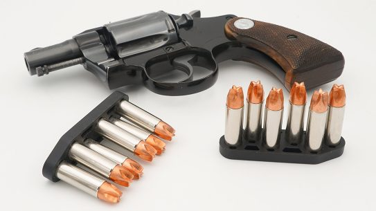 The Zeta6 K-PAK speedloader brings six rounds of .38/.357 for K-frames.
