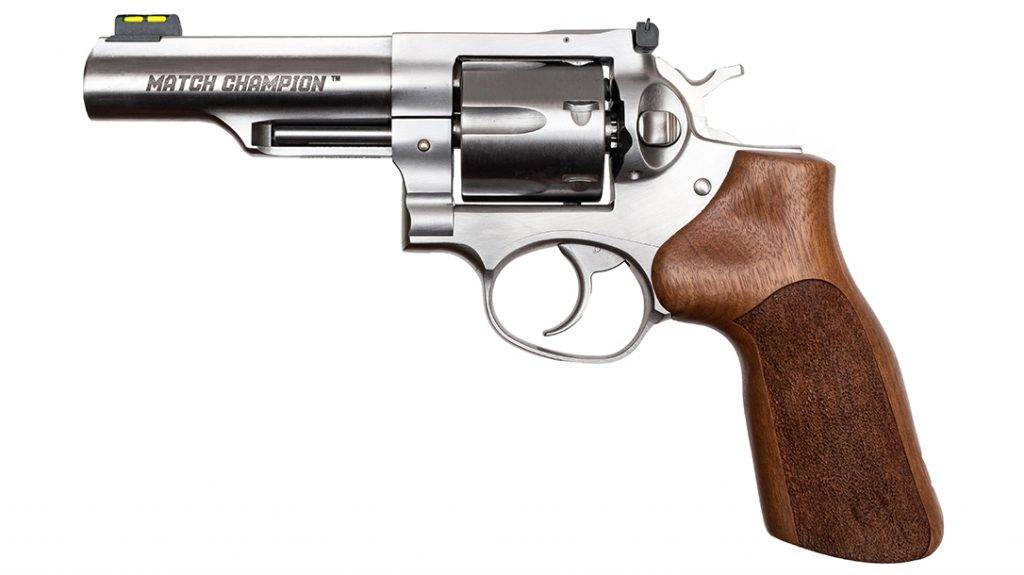 The Ruger GP100 Match Champion is built for competition shooting.