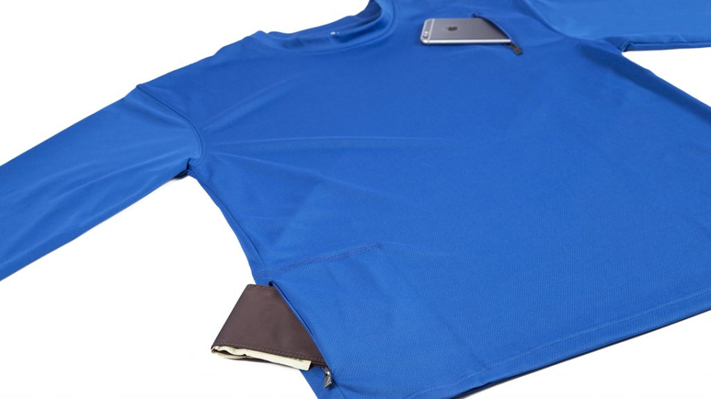 SCOTTeVest performance shirts offer discreet pockets for warm weather.