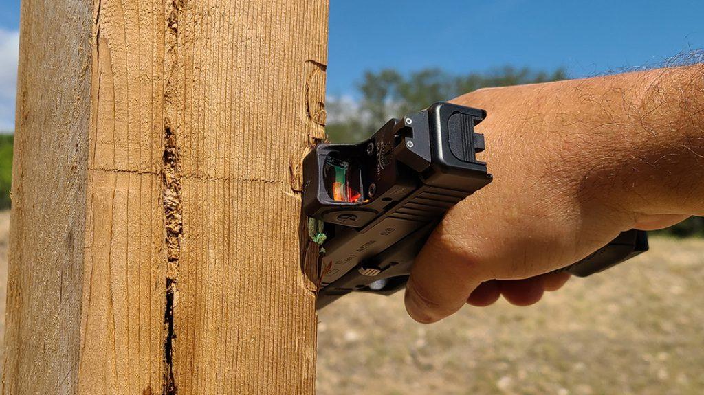 Trijicon RMRcc reflex sight, rack