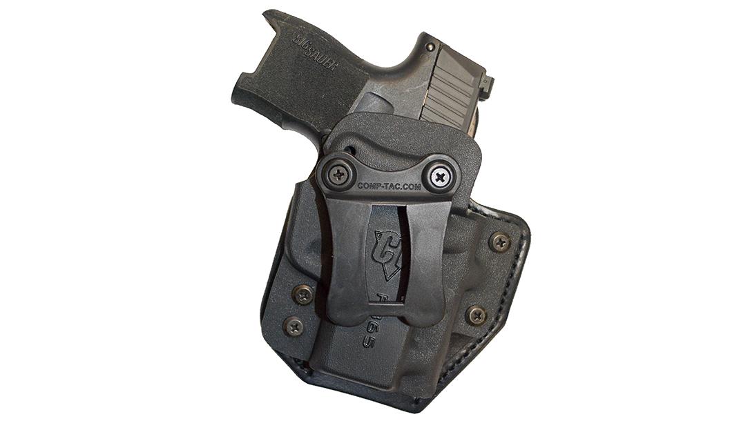 The hybrid Comp-Tac eV2 Infidel holster provides deep IWB concealment.