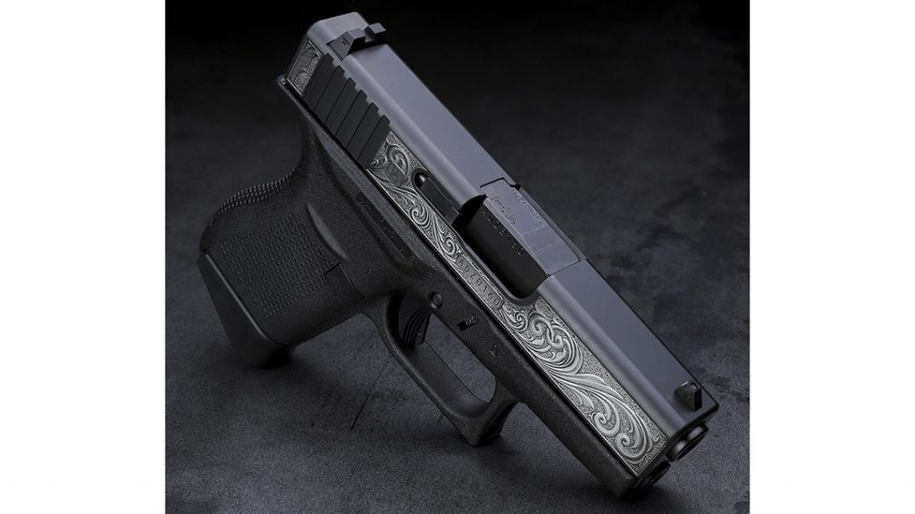 With fine scroll engraving, the Davidson's Glock 43 becomes an instant showpiece.