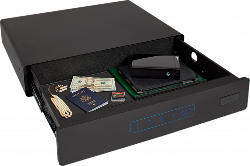 The SnapSafe Under Bed Safe keeps firearms or other valuables close at hand.