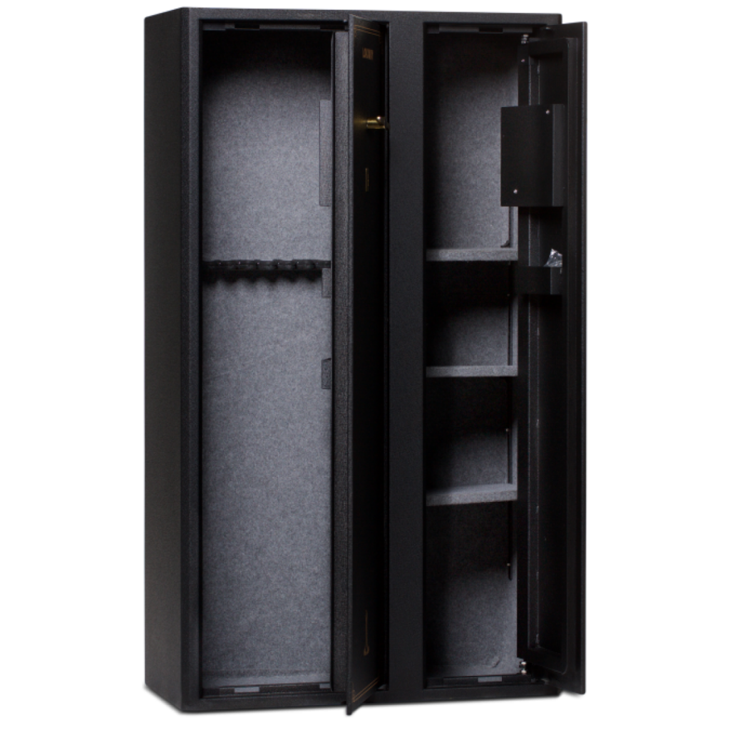 The Lokaway LOKDD Gun Safe stores up to 25 guns.