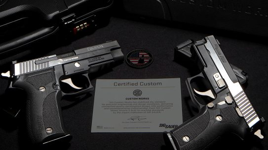 The SIG Custom Works Equinox series provides an update to the P226 and P229 pistols.
