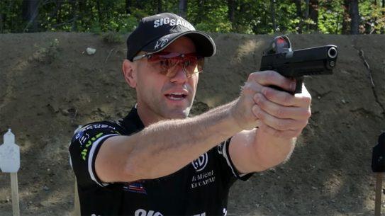 SIG's Max Michel teaches a three-step process for a proper pistol draw stroke.