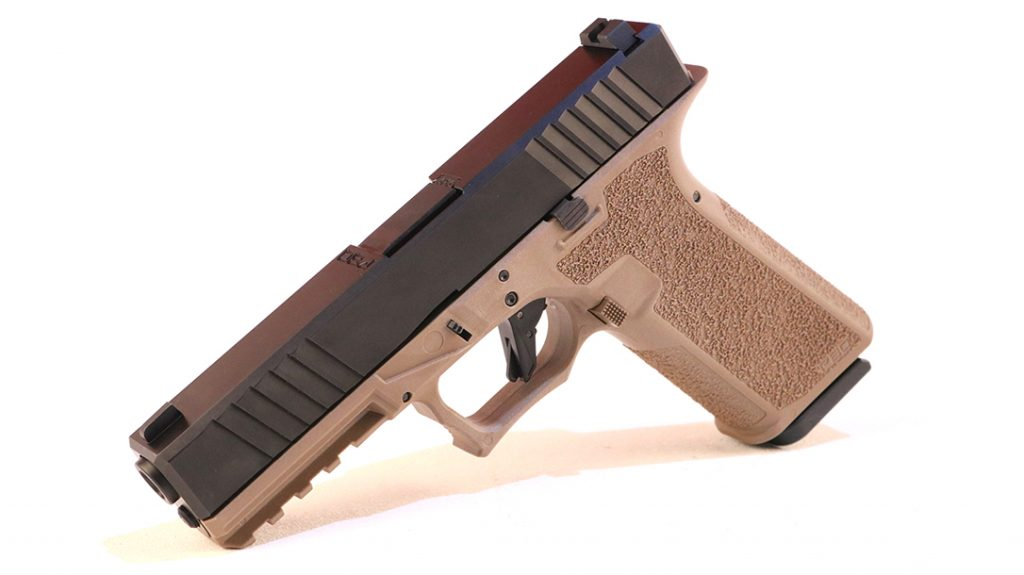 Polymer80 offers its PFS9 frames in black and Flat Dark Earth (FDE).