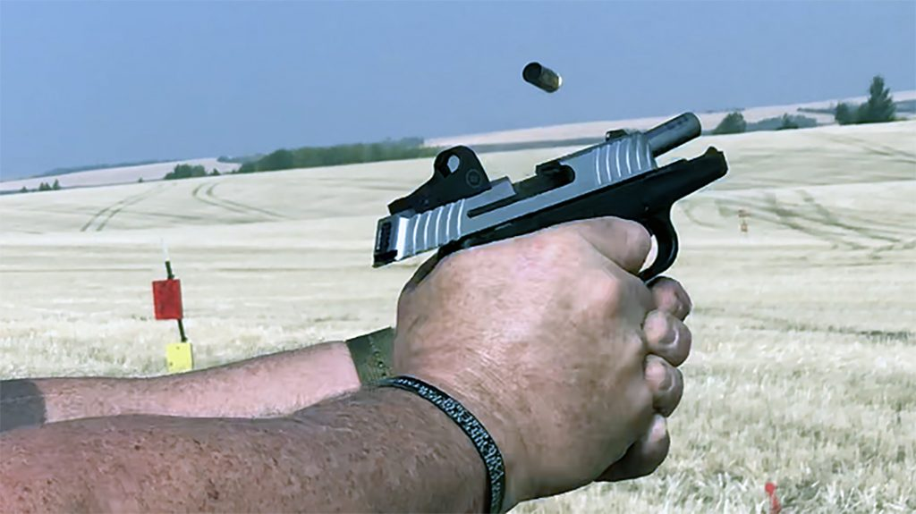 Shooters must learn to handle a shorter, snappier recoil impulse when shooting tiny guns.