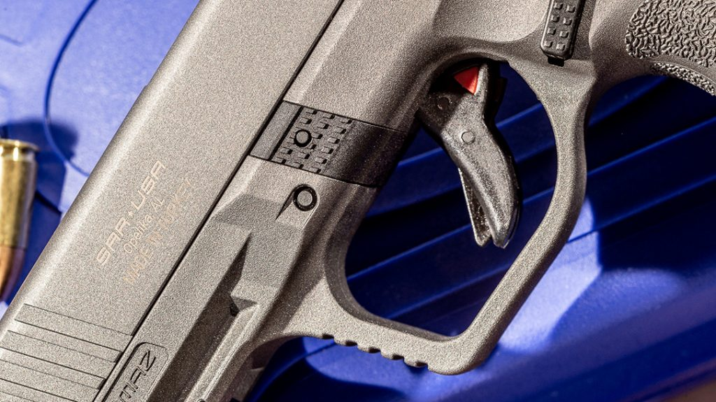 While the trigger pull measures at 6 pounds, the author found it smooth and functional.