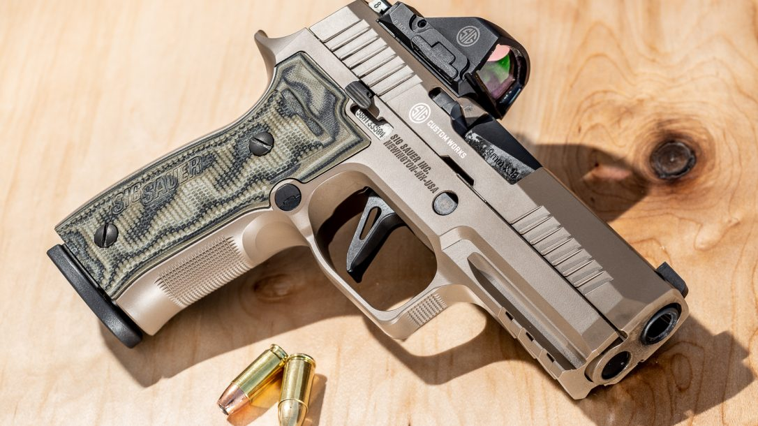 SIG Sauer P320 AXG Scorpion, The upgraded grips and Cerakote finish combined to deliver a striking upgrade for the P320.