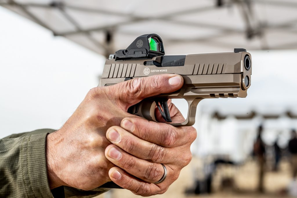 The SIG P320 AXG Scorpion delivers an elevated platform for SIG's signature handgun line.