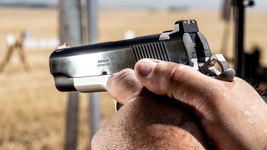 The four-pound trigger pull on the Ronin helps shooters get the most accuracy possible.