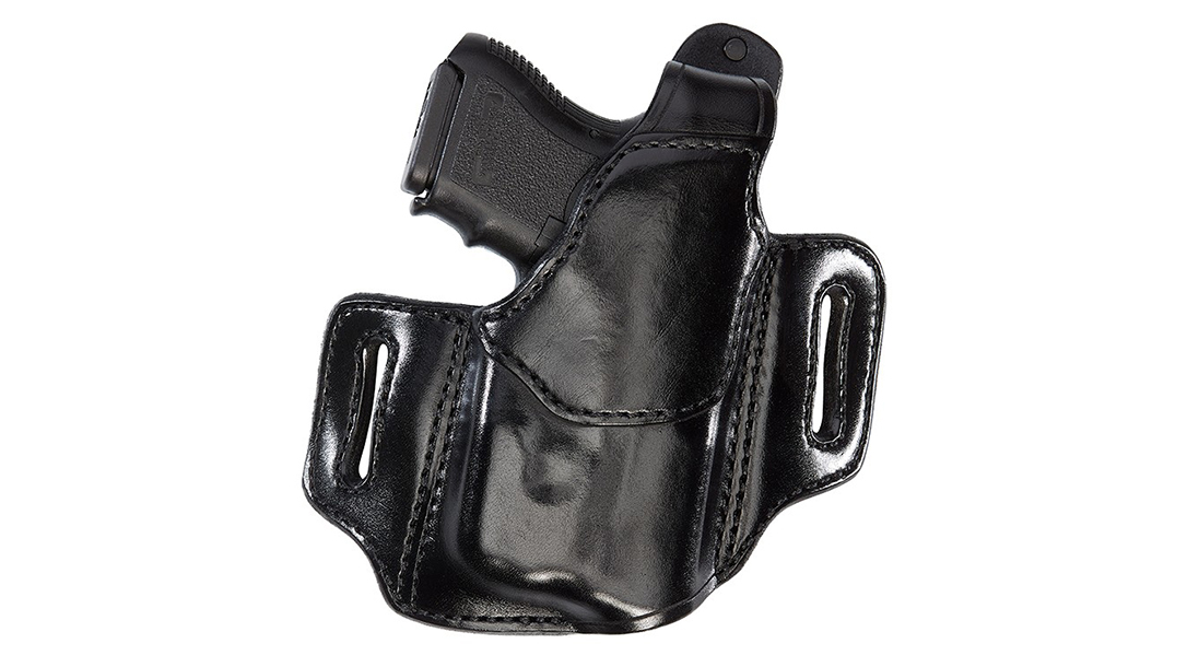 The Aker Leather 147C Nightguard Compact accommodates weapon lights.