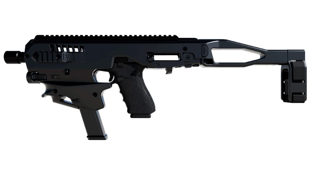 The CAA MCK Glock 34/35/41 delivers SBR-type features to pistols.