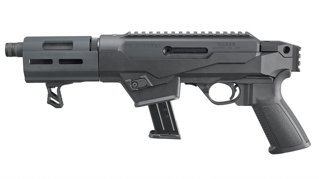 The magazine release button comprises one feature of the Ruger that doesn't follow AR styling.