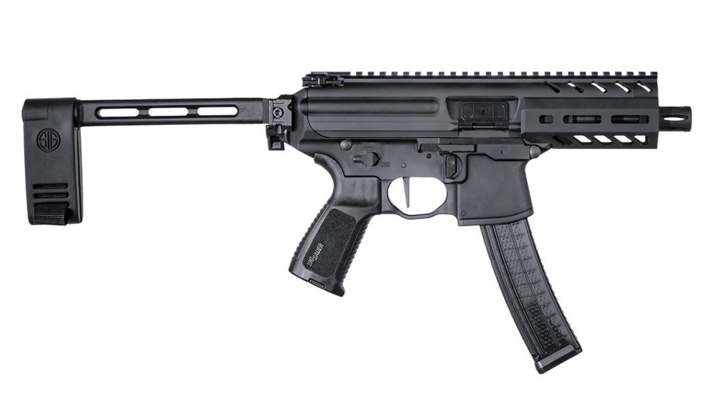 The SIG MPX K features many AR-style components, making it easy to manipulate.