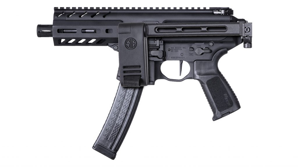 In its folded configuration, the SIG MPX K becomes a highly stowable pistol design.