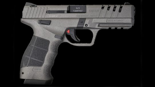 The SAR 9X Platinum features a silver Cerakote finish to the slide, along with several upgrades.
