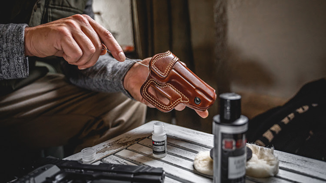 Keep your leather belt, holster and ammo carrier ready with the Galco Holster Care Kit.
