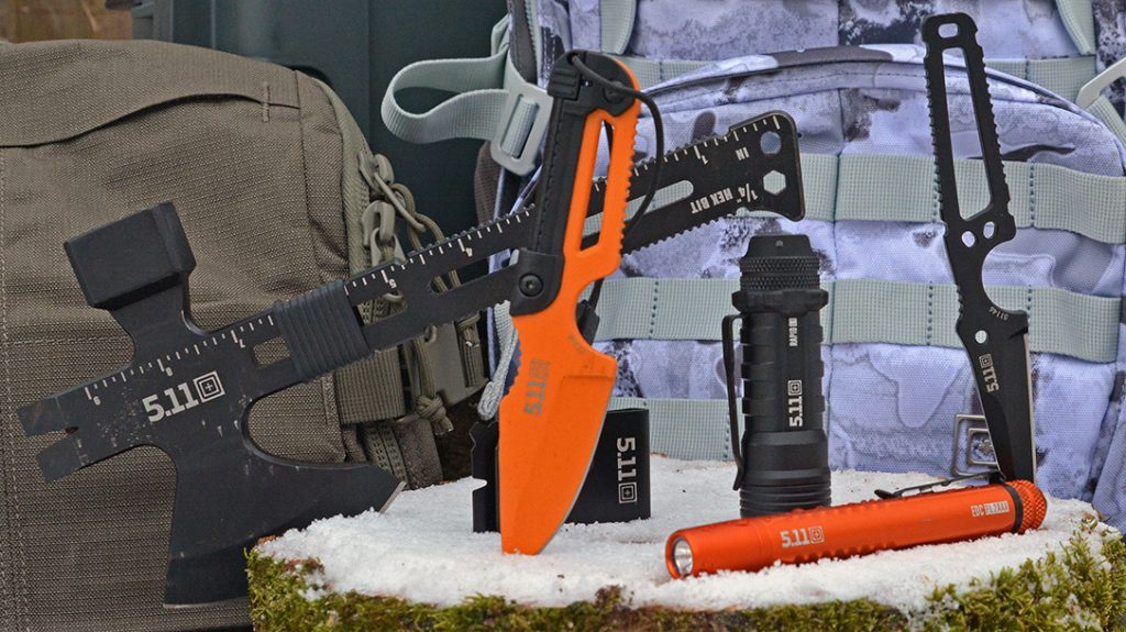 A full line of lights, axes, knives and more help users do work while afield.