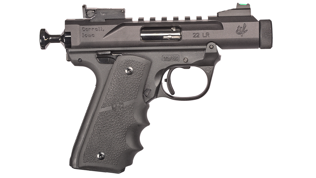The Volquartsen Mini Mamba provides a compact, takedown rimfire.