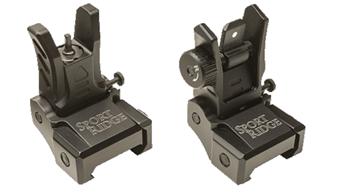 The aluminum, lightweight low-profile Sport Ridge AR Sights provide a solid backup system.