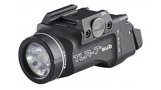 Extremely lightweight and compact, the Streamlight TLR-7 Sub was built for subcompact pistols.