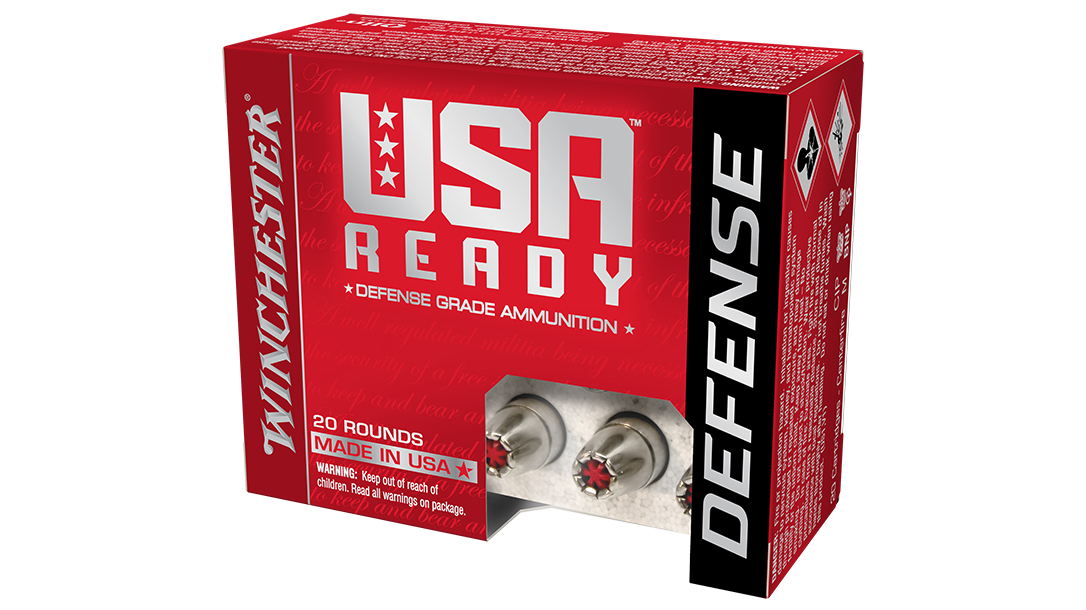 Winchester USA Ready Defense is designed to perform through concealed carry pistols.