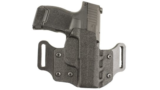 The DeSantis Veiled Partner features a molded Kydex design in OWB configuration.