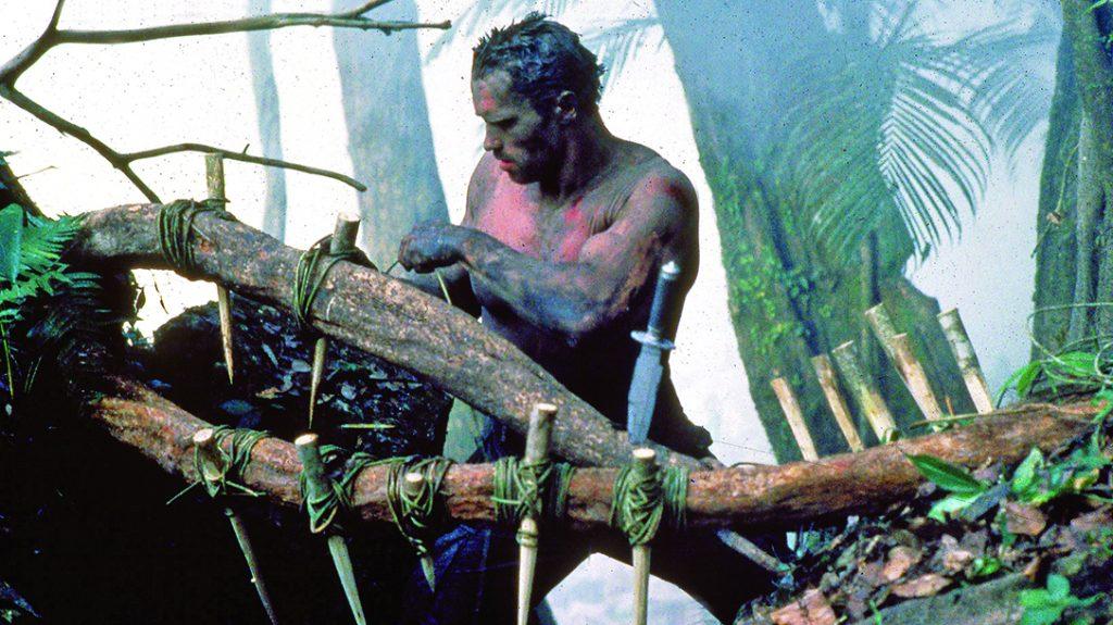 Arnold Schwarzenegger brought Vietnam-era booby traps back with 1987's Predator.