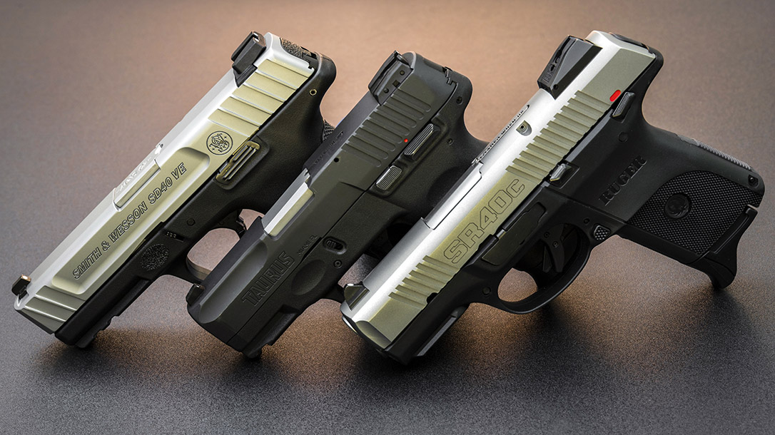 Our group of budge 40 S&W pistol variants prove the 40 isn't dead yet.