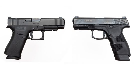 The Glock 48 MOS and Mossberg MC2c comprise two popular choices for EDC.
