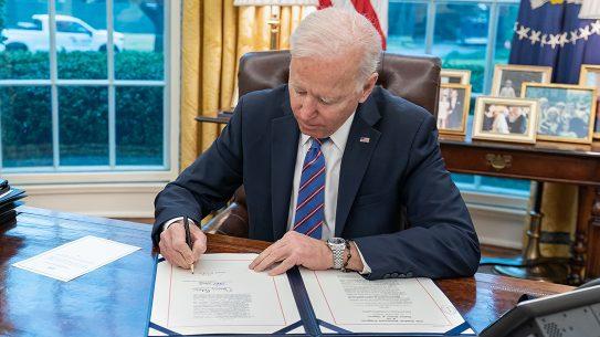 President Joe Biden threatened executive action to advance gun control initiatives.