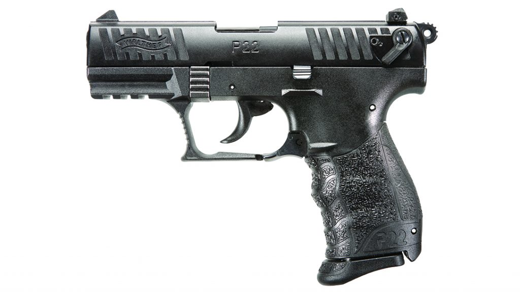 The Walther P22 Q, the first polymer-frame semi-auto rimfire pistol.