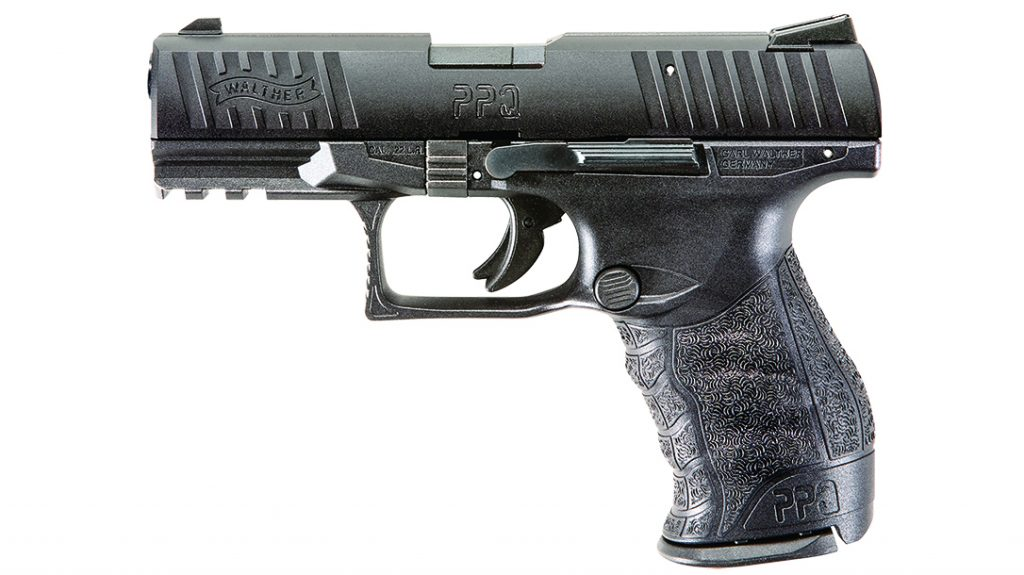The Walther PPQ .22 LR is a full-sized—almost 9mm-sized—weapon available in .22 LR.
