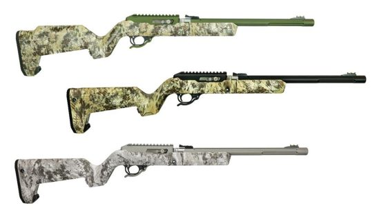 TacSol Kryptec rifle feature new camo patterns on high-end .22s.
