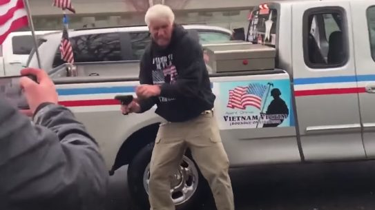 Oregon Antifa Protest, Man Pulls Gun