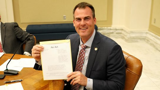 Oklahoma Gov. Kevin Stitt signed 2nd Amendment Sanctuary Bill into law.