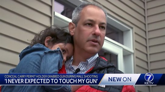 A Nebraska CCW holder defied a gun free zone mandate to protect his family.